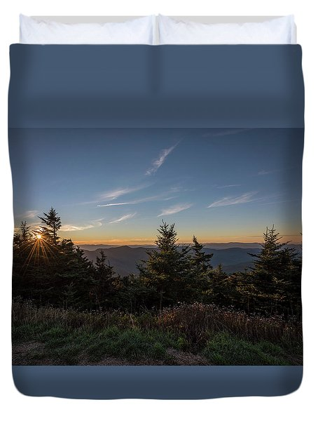 Mt Mitchell Sunset North Carolina 2016 Duvet Cover by Terry DeLuco