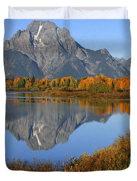 Mt. Moran Fall Reflection  Duvet Cover