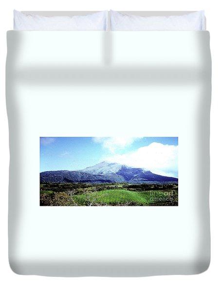 Duvet Cover featuring the photograph Mt. Pele, Martinique by Merton Allen