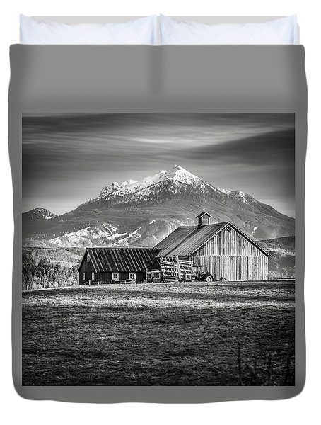 Mt Pilchuck Duvet Cover by Tony Locke