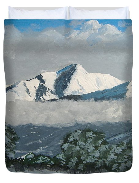 Duvet Cover featuring the painting Mt Princeton Co by Norm Starks
