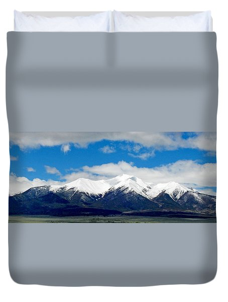 Mt. Princeton Colorado Duvet Cover