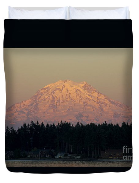 Mt Rainier Alpine Glow II Duvet Cover