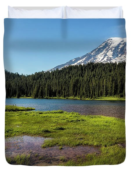 Mt Rainier From Reflection Lake, No. 2 Duvet Cover
