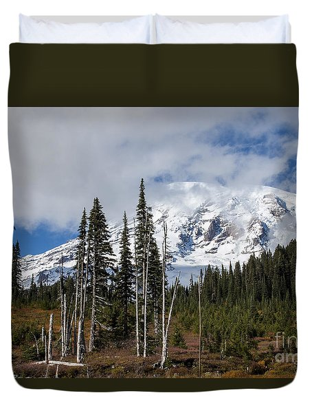 Mt. Rainier High Meadow Duvet Cover