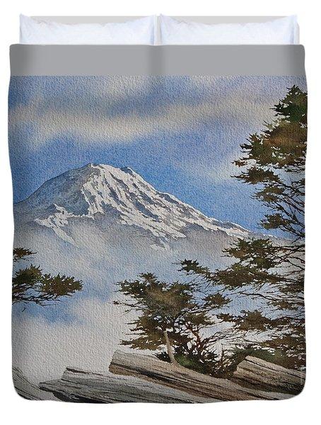 Mt. Rainier Landscape Duvet Cover by James Williamson