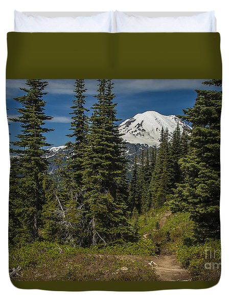 Mt. Rainier Naches Trail Landscape Duvet Cover