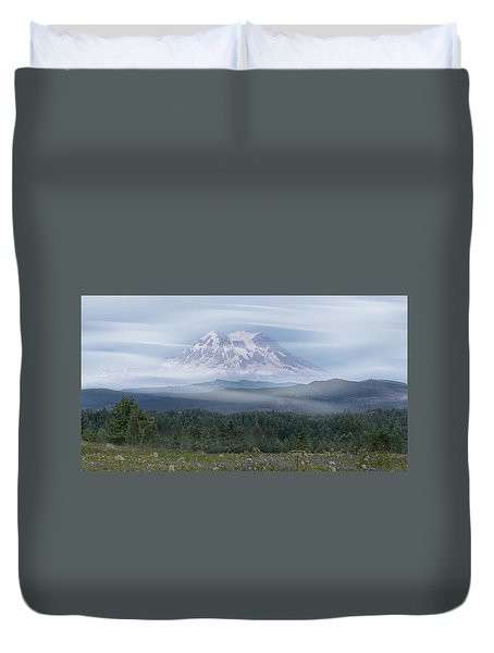 Duvet Cover featuring the photograph Mt. Rainier by Patti Deters