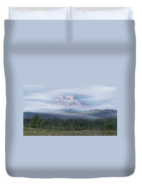 Mt. Rainier Duvet Cover by Patti Deters
