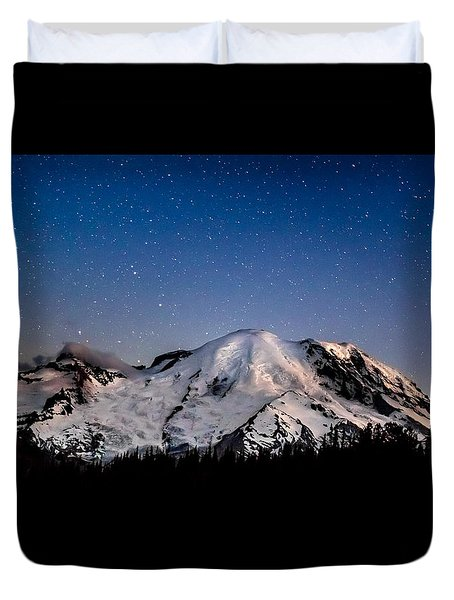 Mt. Rainier Star Light Duvet Cover