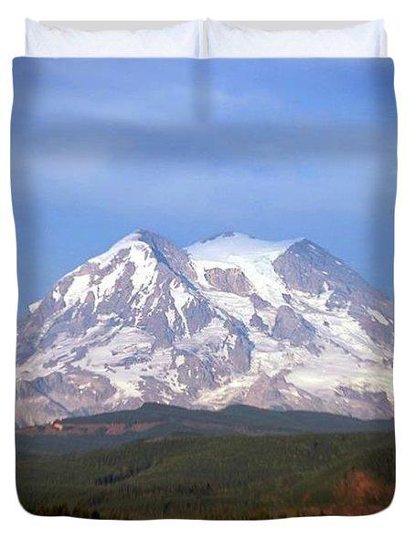 Mt. Rainier Duvet Cover