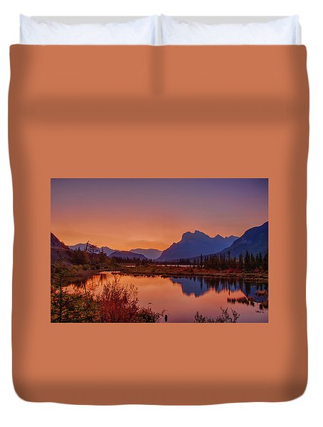 Duvet Cover featuring the photograph Mt. Rundle 2009 11 by Jim Dollar