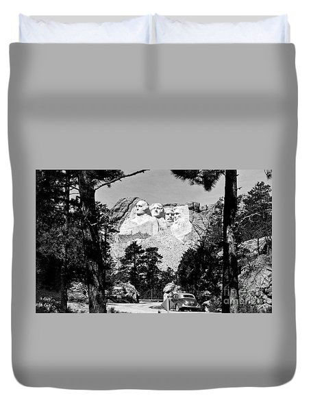 Mt Rushmore Duvet Cover by American School
