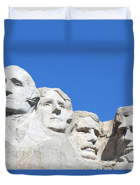 Duvet Cover featuring the photograph Mt. Rushmore by Steven Frame
