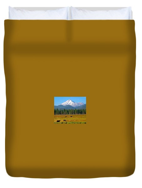 Mt. Shasta Morning Duvet Cover