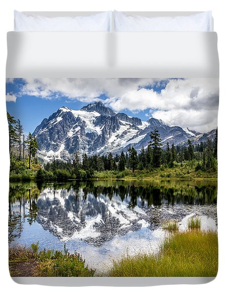 Mt Shuksan On Picture Lake 1 Duvet Cover