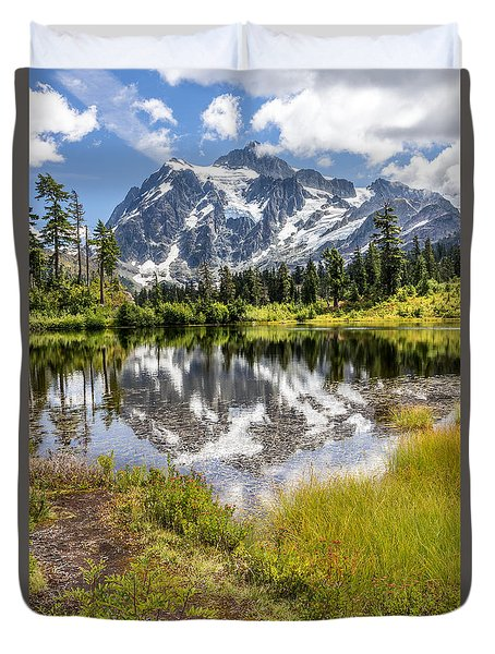 Mt Shuksan On Picture Lake 2 Duvet Cover by Rob Green