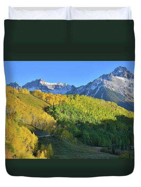 Duvet Cover featuring the photograph Mt. Sneffels From County Road 7 by Ray Mathis