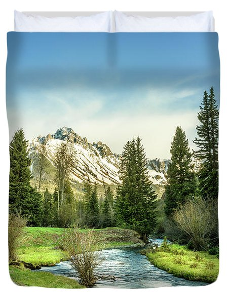 Mt. Sneffels Peak Duvet Cover