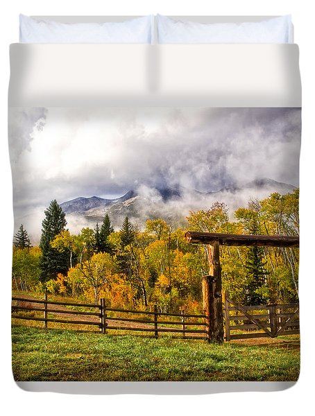 Mt Sopris Under The Clouds Duvet Cover
