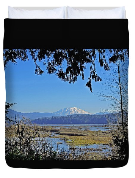 Duvet Cover featuring the photograph Mt St Helens by Jack Moskovita