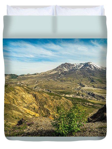 Mt St Helens Renewal Duvet Cover