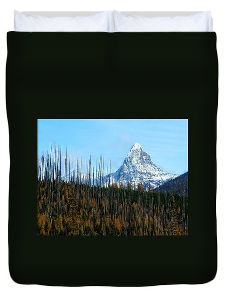 Mt St Nicolas After The Fire Duvet Cover
