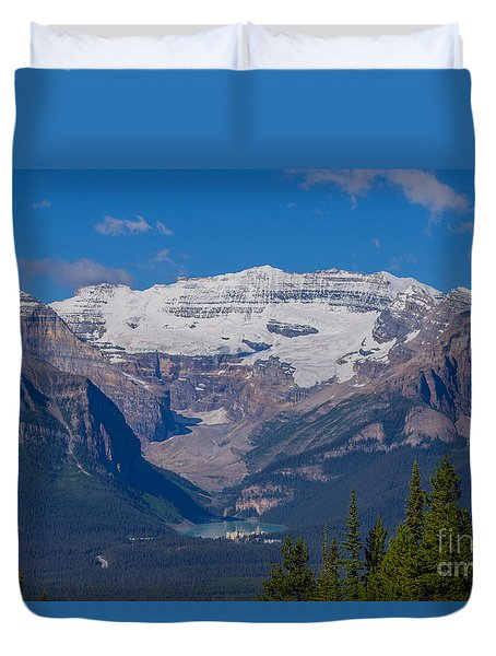 Mt. Victoria And Lake Louise Duvet Cover