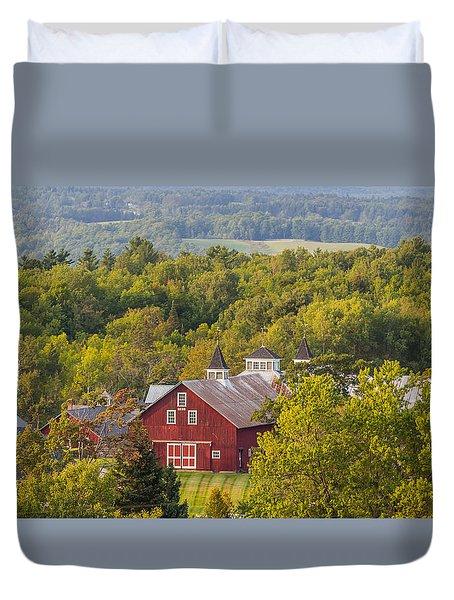 Mt View Farm In Summer Duvet Cover