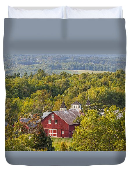 Mt View Farm In Summer Duvet Cover by Tim Kirchoff