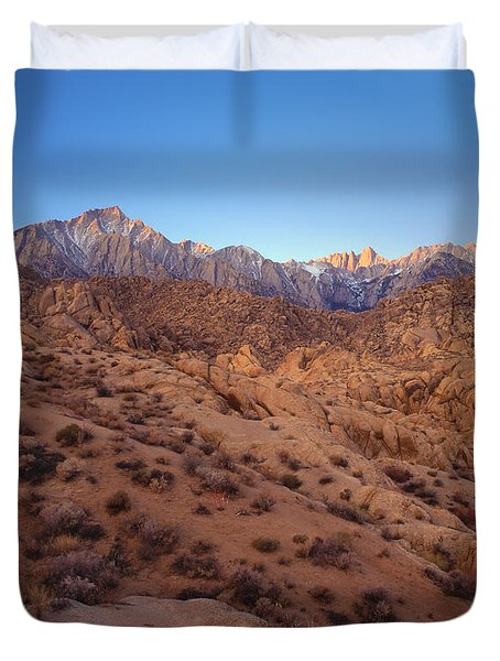 Mt. Whitney Dawning Light Duvet Cover