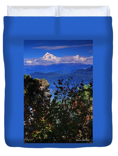 Mt.hood N Fall Duvet Cover
