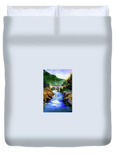 Mtn Quarries Rr Bridge Duvet Cover