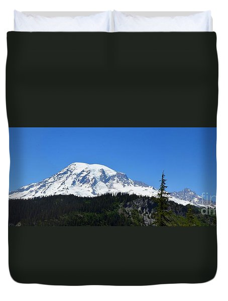 Mt.rainier Duvet Cover by Scott Cameron