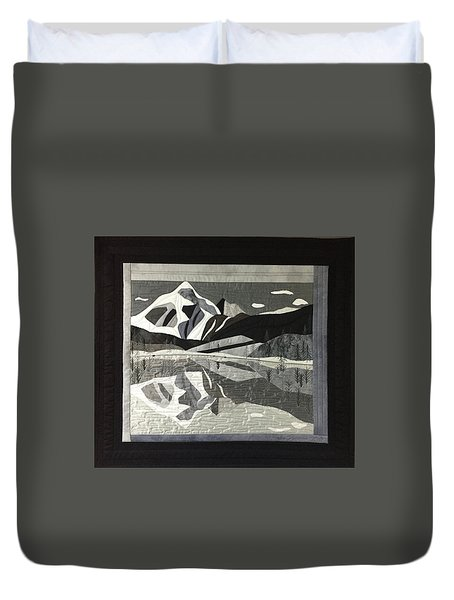 Mt.shuksan In Gray Duvet Cover