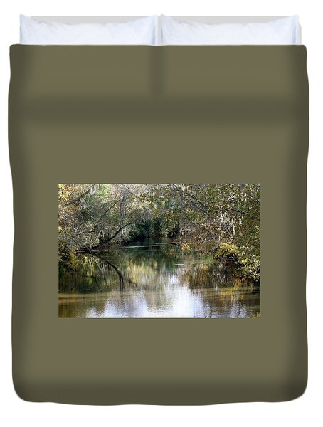 Duvet Cover featuring the photograph Muckalee Creek by Jerry Battle