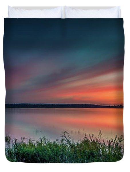 Mud Bay Sunset 4 Duvet Cover