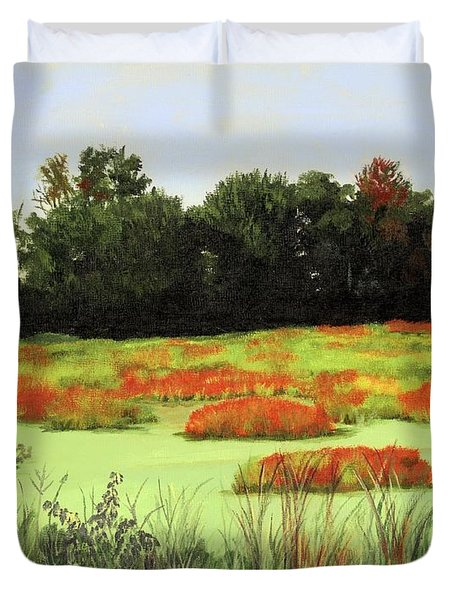 Mud Lake Marsh Duvet Cover