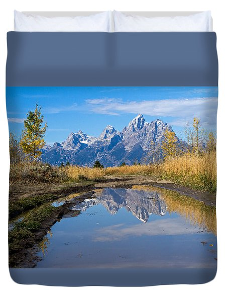 Mud Puddle Reflection Duvet Cover