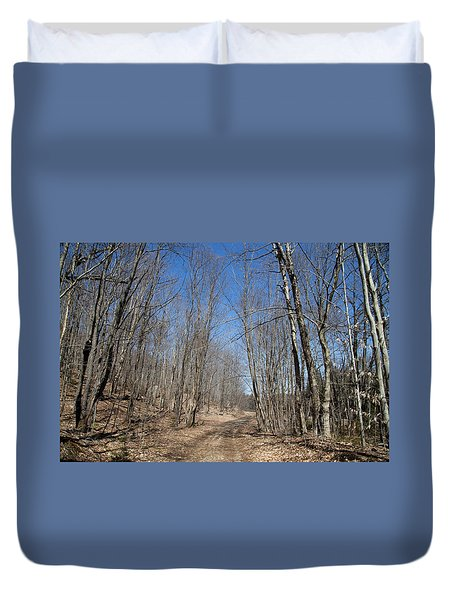 Duvet Cover featuring the photograph Mud Season In The Adirondacks by David Patterson