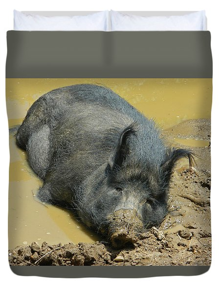 Mud Spa Duvet Cover by Emmy Marie Vickers