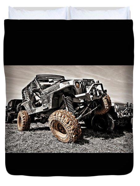Muddy Super Swamper Tj Duvet Cover