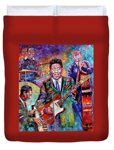 Muddy Waters And His Band Duvet Cover by Debra Hurd