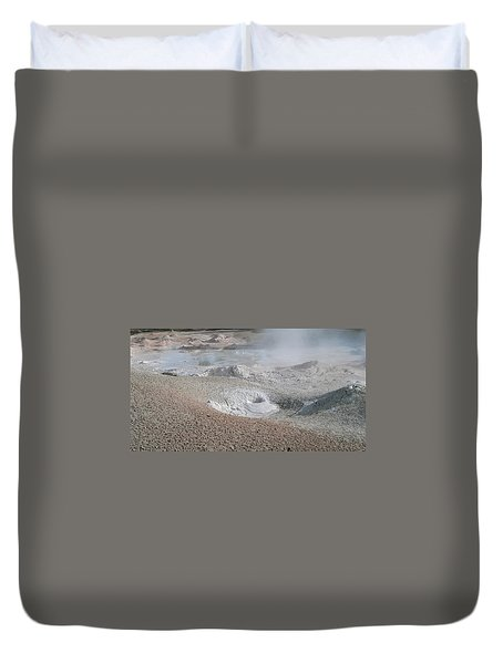 Mudpots Of Yellowstone Duvet Cover by Michele Myers
