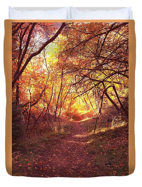 Mueller Park In The Fall Duvet Cover