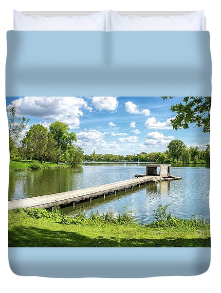 Muenster Aasee Panoramic View Duvet Cover