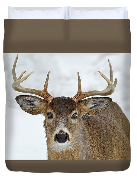 Duvet Cover featuring the photograph Mug Shot by Tony Beck