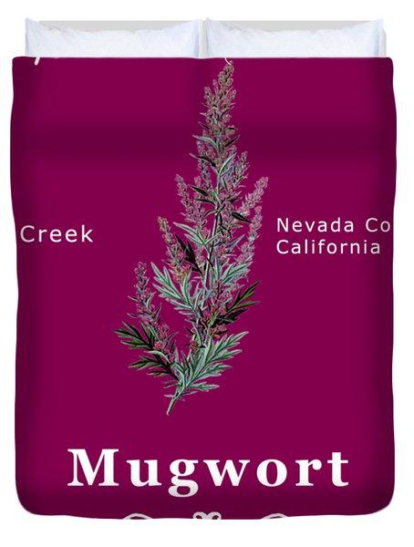 Mugwort - White Text Duvet Cover