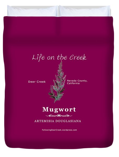 Mugwort - White Text Duvet Cover