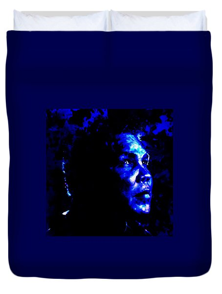 Duvet Cover featuring the painting Muhammad Ali 01a by Brian Reaves